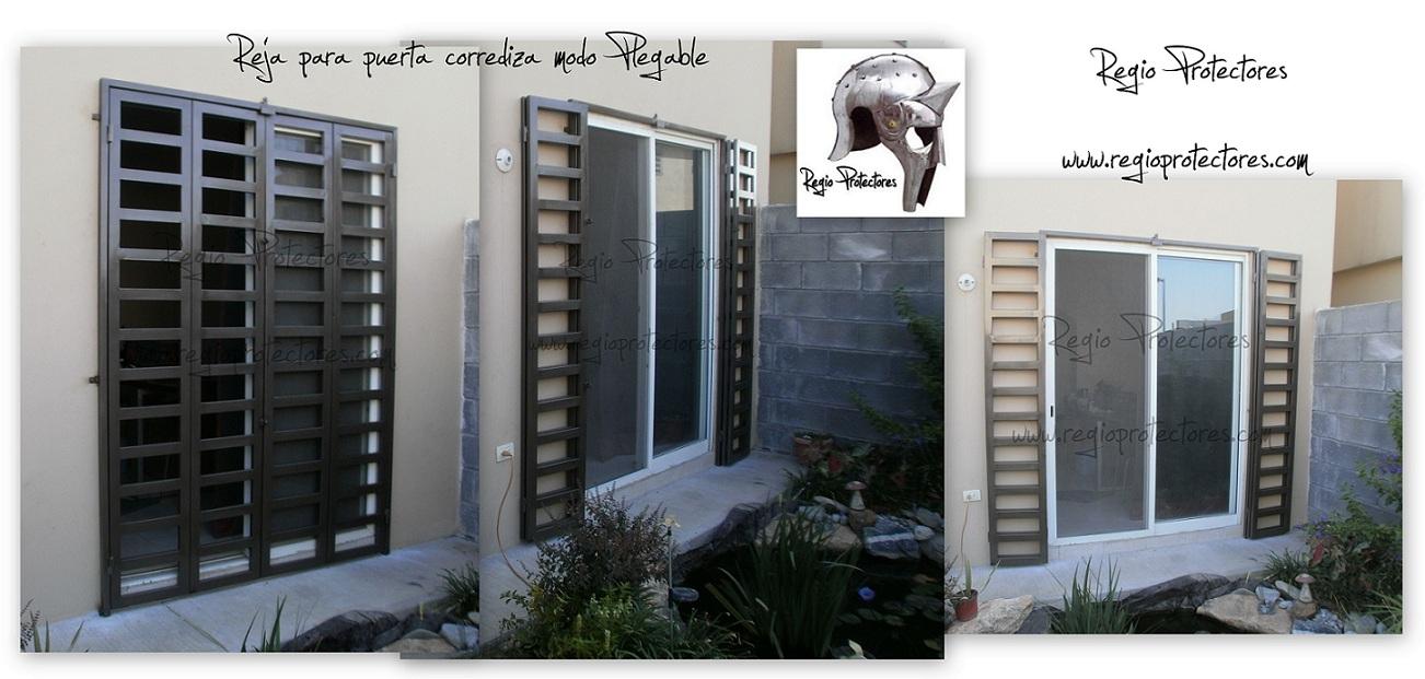 Regio protectores reja para puerta corrediza en modo plegable - Puertas de reja ...