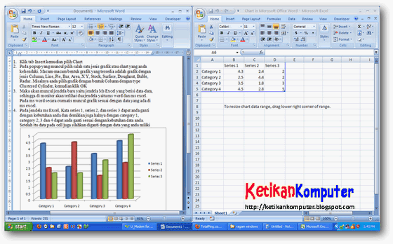 Membuat grafik di ms word
