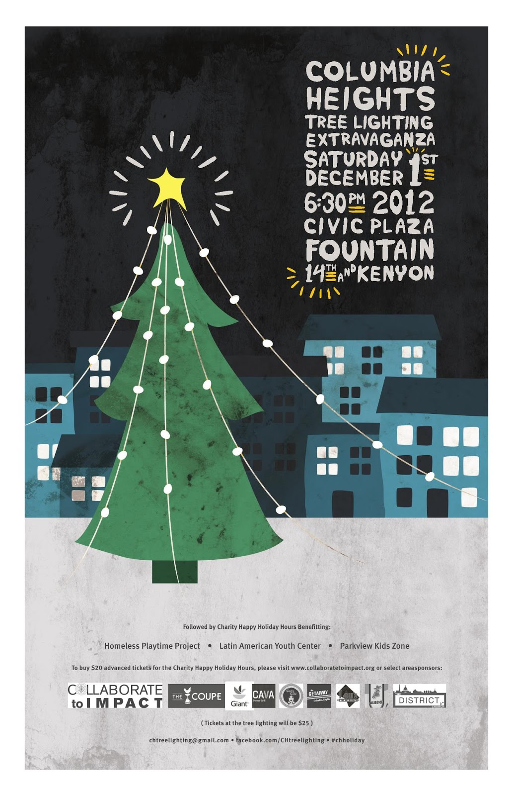 columbia heights christmas tree lighting dec 1 plus charity happy hour after - Giant Christmas Hours