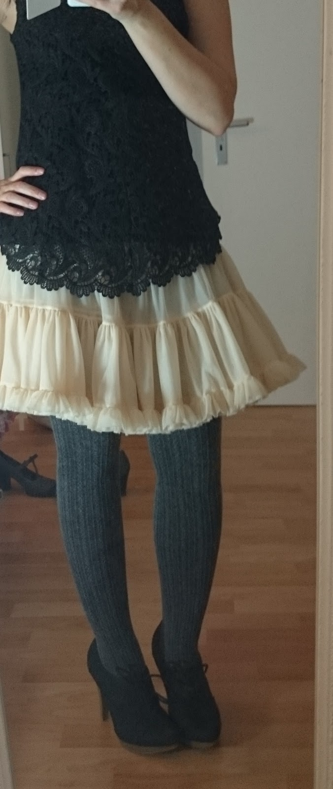 How to style a Petticoat - Black Lace