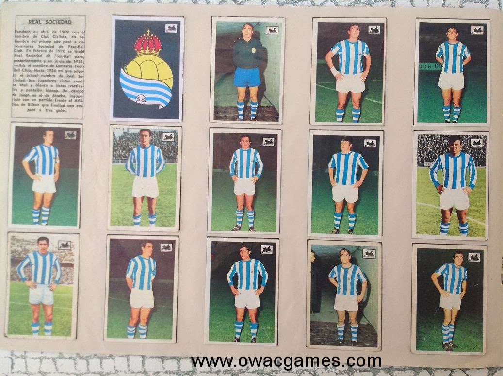 Real Sociedad 1969-70 Chocolates La Cibeles