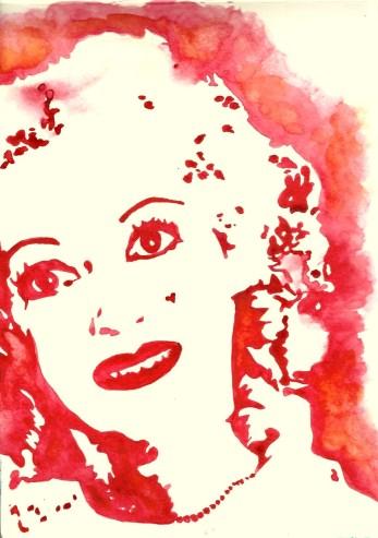 Whoopidooings: Carmen Wing - Bette Davis (Baby Jane) in Watercolour