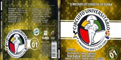 Circuito Universitário O Melhor do Forro Pé de Serra Vol.1 CD 2014