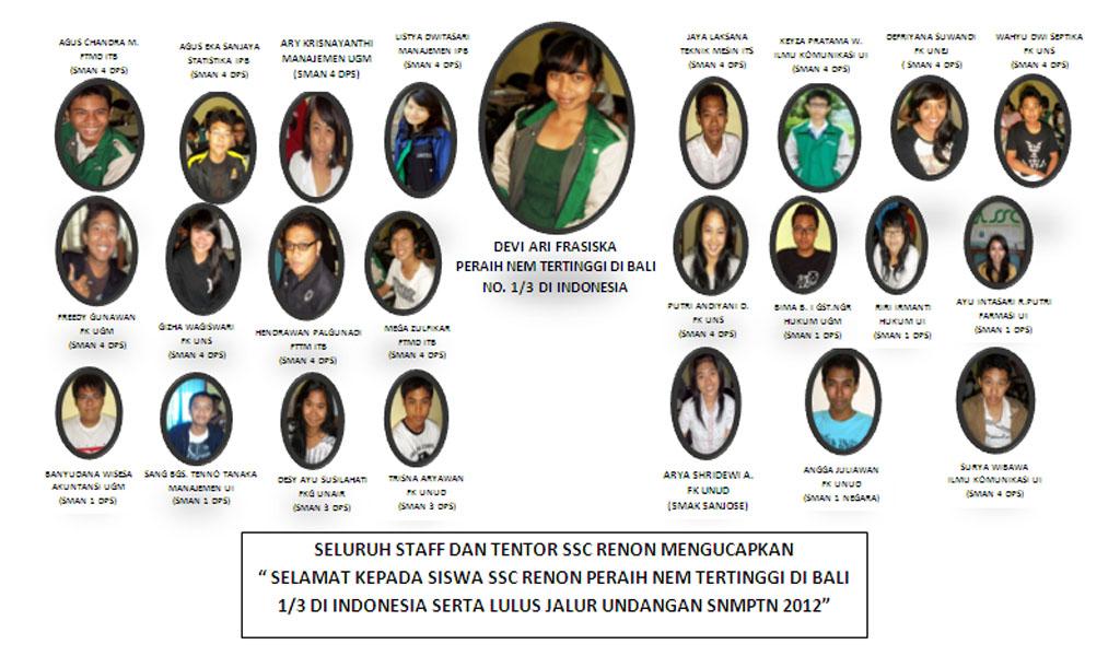 Siswa Ssc Peraih Nem Tertinggi Amp Undangan Ssc Denpasar