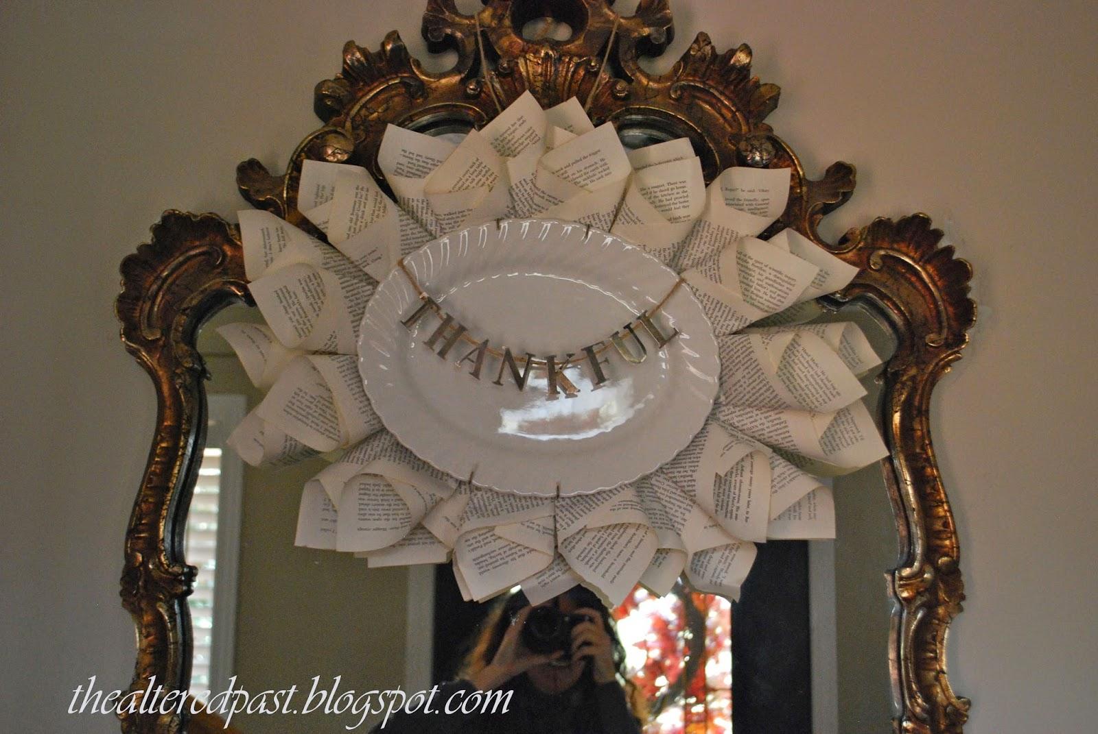 beautiful ironstone platter, the altered past blog