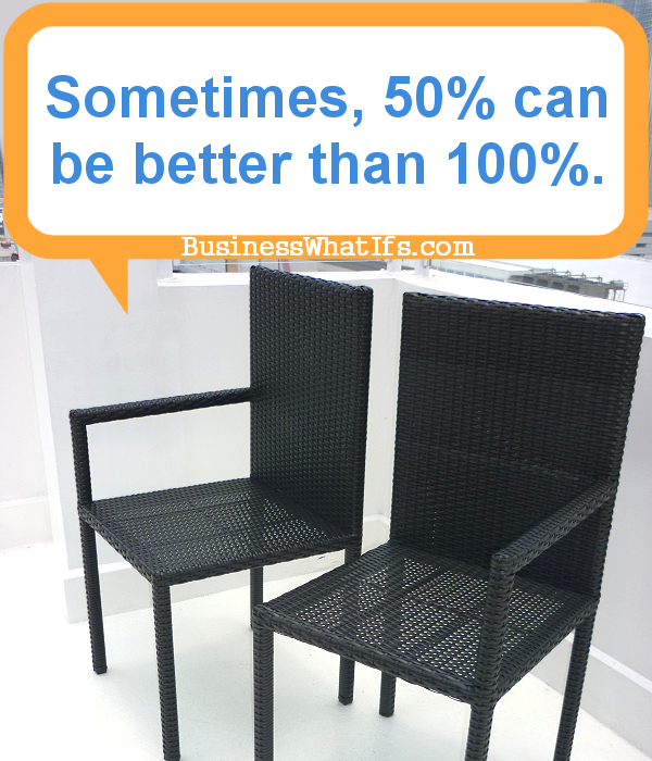 Chairs with one armrest each