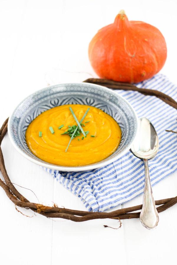 Rezept für selbstgemachte Kürbissuppe