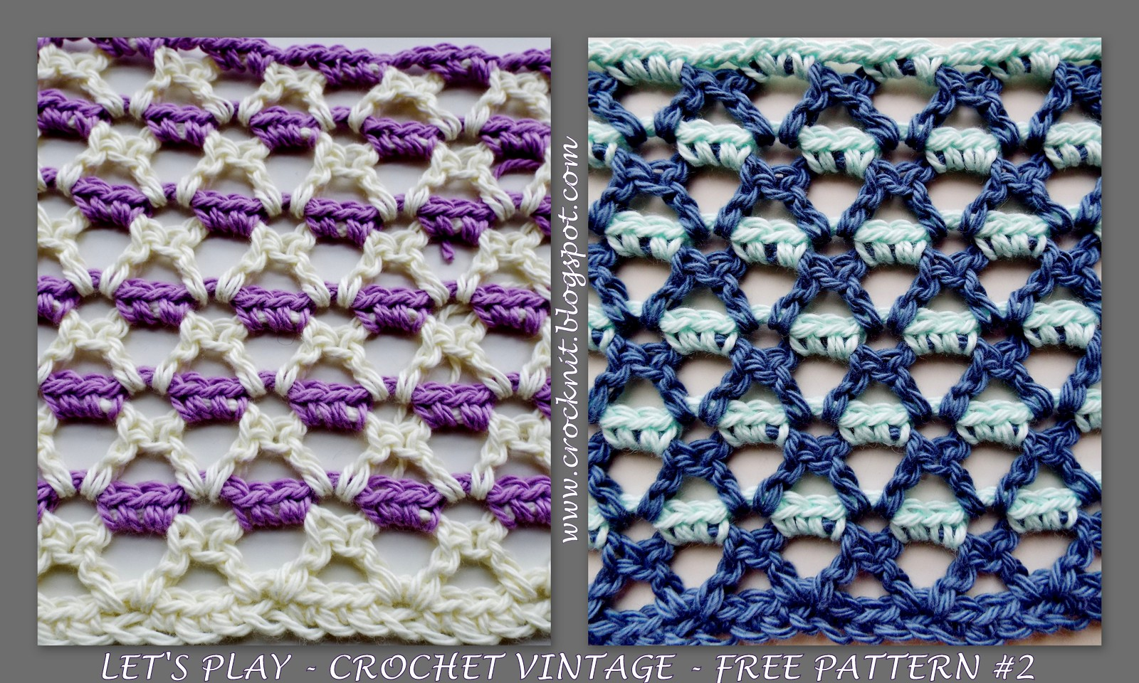 Crochet Stitch Rtrf : MICROCKNIT CREATIONS: LETS PLAY - CROCHET VINTAGE - FREE PATTERN #2