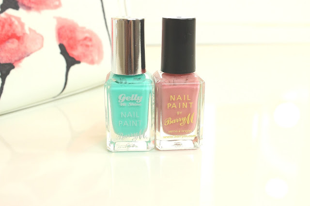 Barry M Nail Paint in Green Berry and Ballerina