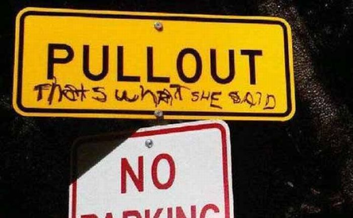 Funniest Defaced Signs Damn Cool Pictures - 15 signs improved hilarious graffiti