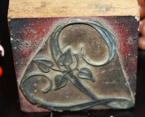antique French rubber stamp