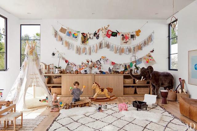 decorar habitacion infantil de juego con tipi indio