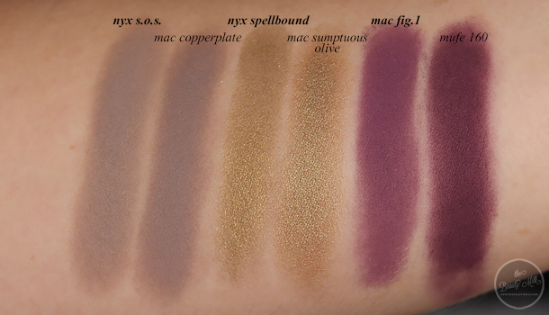 mac nyx urban decay nars mufe coastal scents highend drugstore eyeshadow dupes sumptuous olive kalahari sable