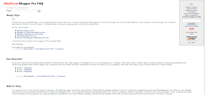 Blogger FAQ 2012