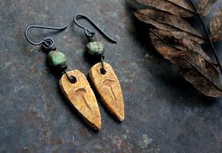 Stonehenge axe earrings