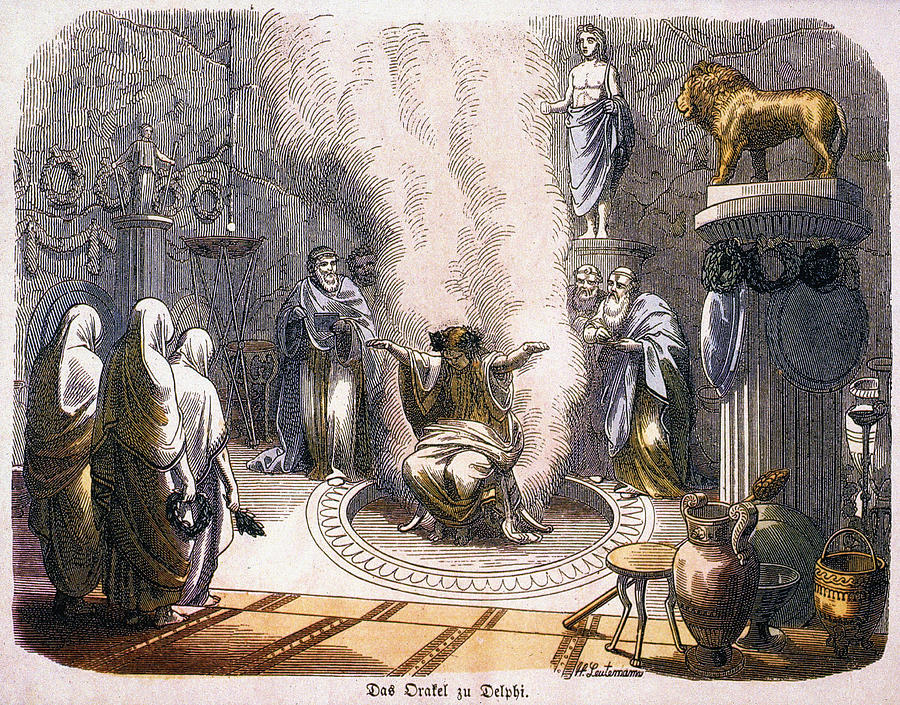 pythia the oracle of delphi Who was the oracle of delphi she was called the pythia, because of the python that was the guardian of temple chosen by two priests of apollo among young virgin.