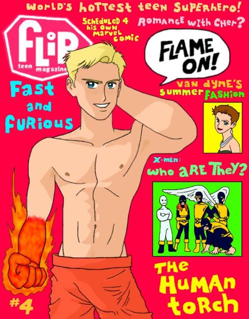 Human Torch Flip magazine