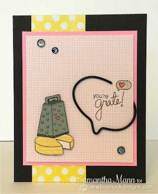 Cheese card by Samantha Mann for Inky Paws Challenge #3