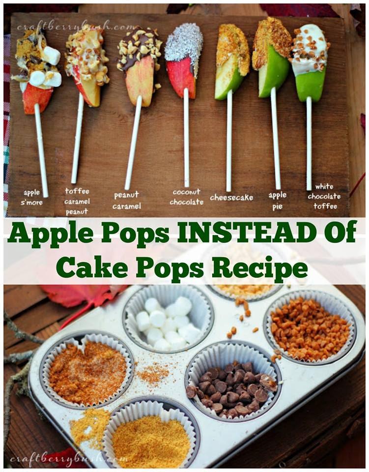 Caramel apple pops snack bar creative ideas for Bar food ideas recipes