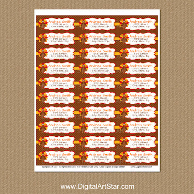 printable thanksgiving return address labels