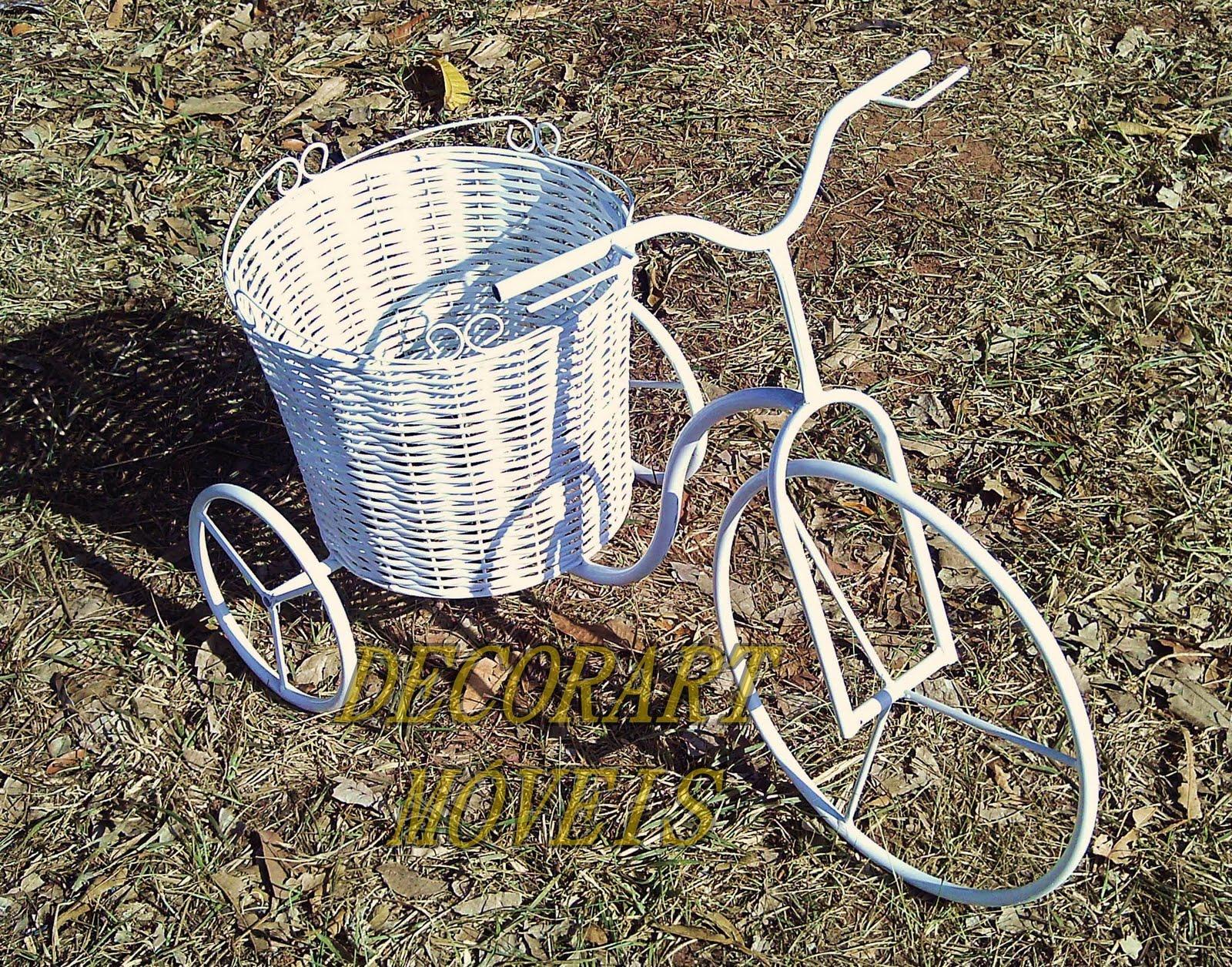 objetos decoracao jardim : objetos decoracao jardim:OBJETOS DE DECORAÇÃO EM FERRO: bicicleta para jardim floreira
