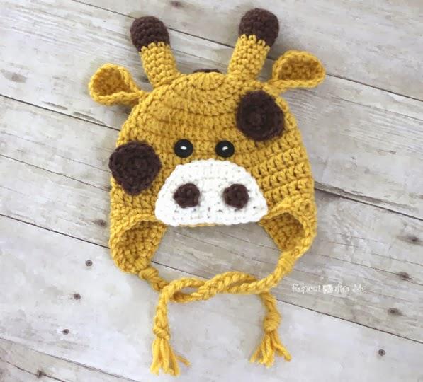Crochet Free Pattern Giraffe : Crochet Giraffe Hat Pattern - Repeat Crafter Me