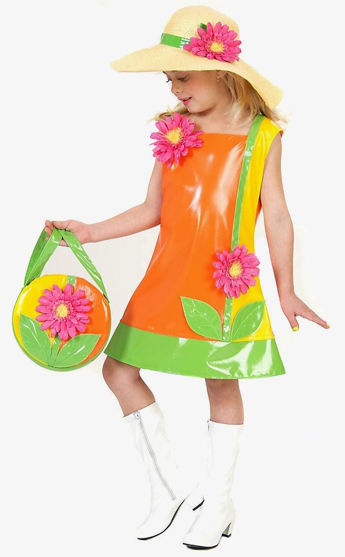Костюм цветочка для девочки из подручных материалов