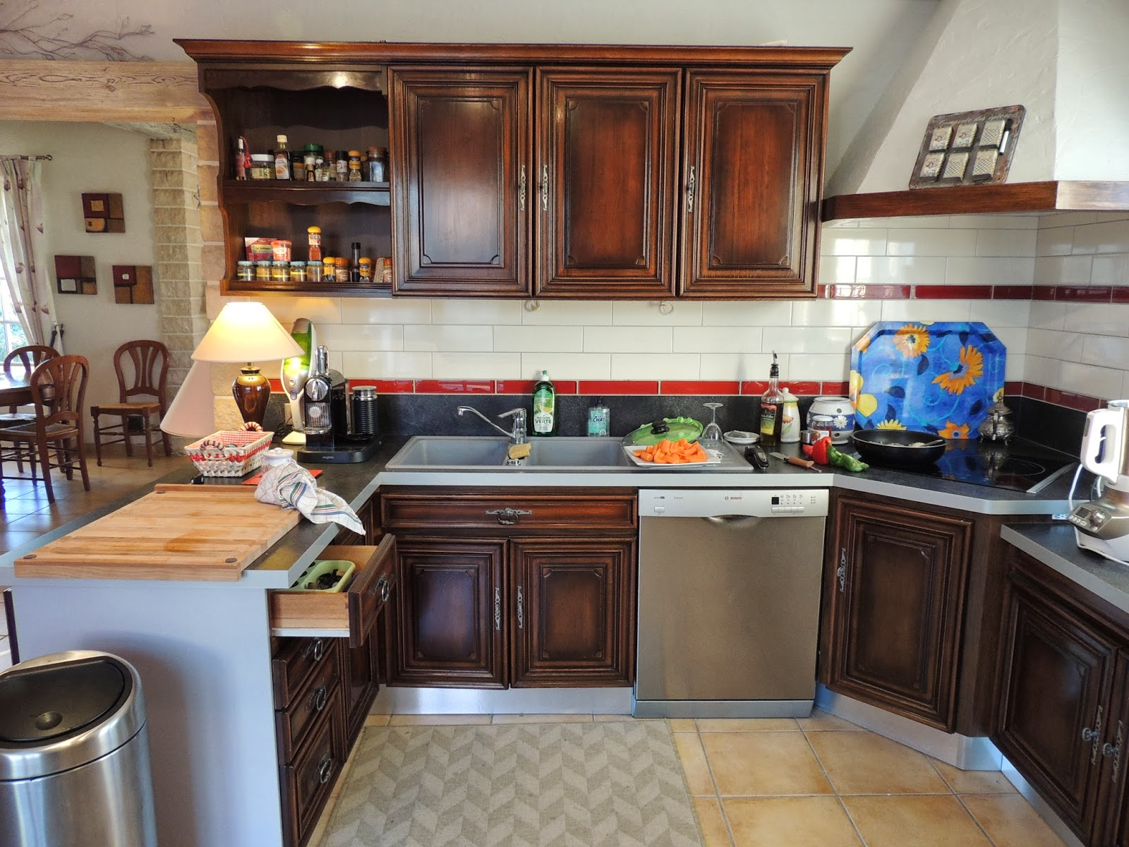 L 39 atelier d 39 emmanuelle relooking d 39 une cuisine en ch ne for Relooking cuisine chene