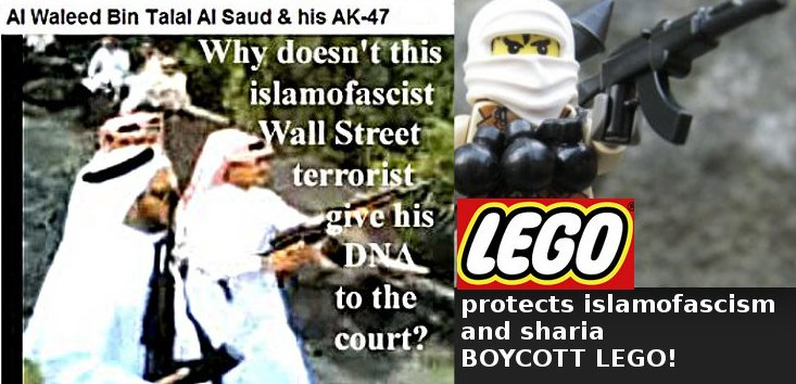 Lego won't sponsor the defense for Human Rights equality - but islamofascism and sharia is ok