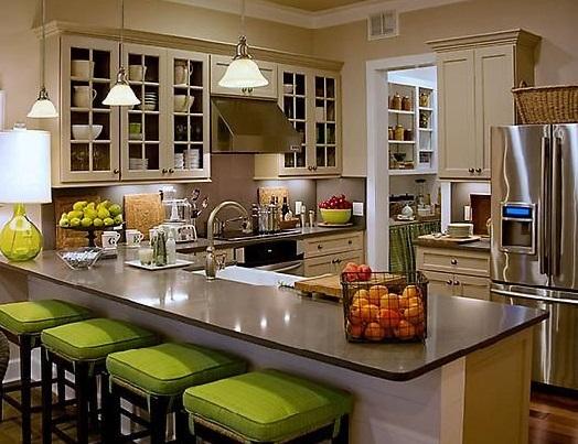 Casas americanas cocinas for Barras de cocina rusticas
