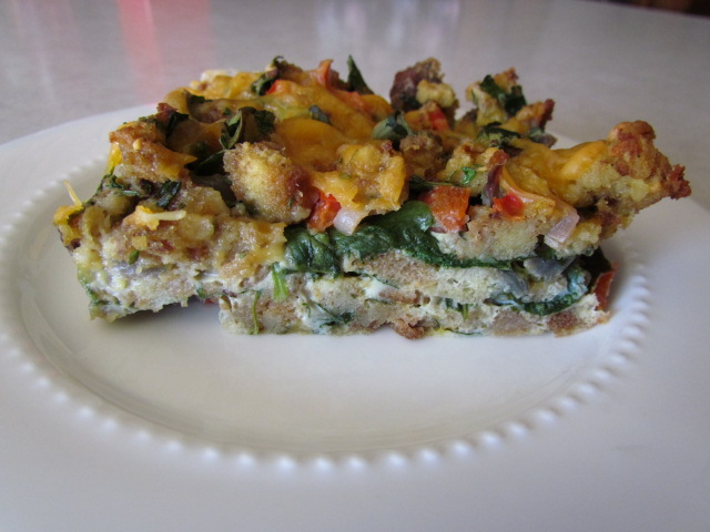 At Home In The Kitchen: SPINACH AND EGG STRATA