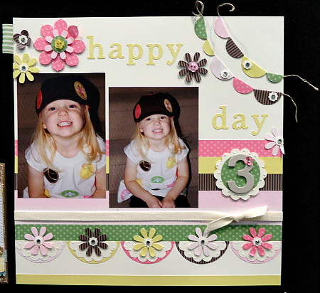 Happy Day Scrapbook Page