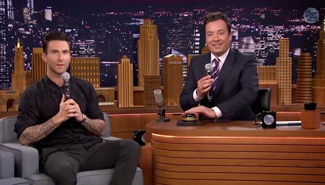 Adam Levine and Jimmy Fallon.
