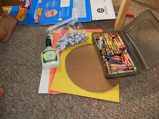 thanksgiving handprint turkey craft - supplies