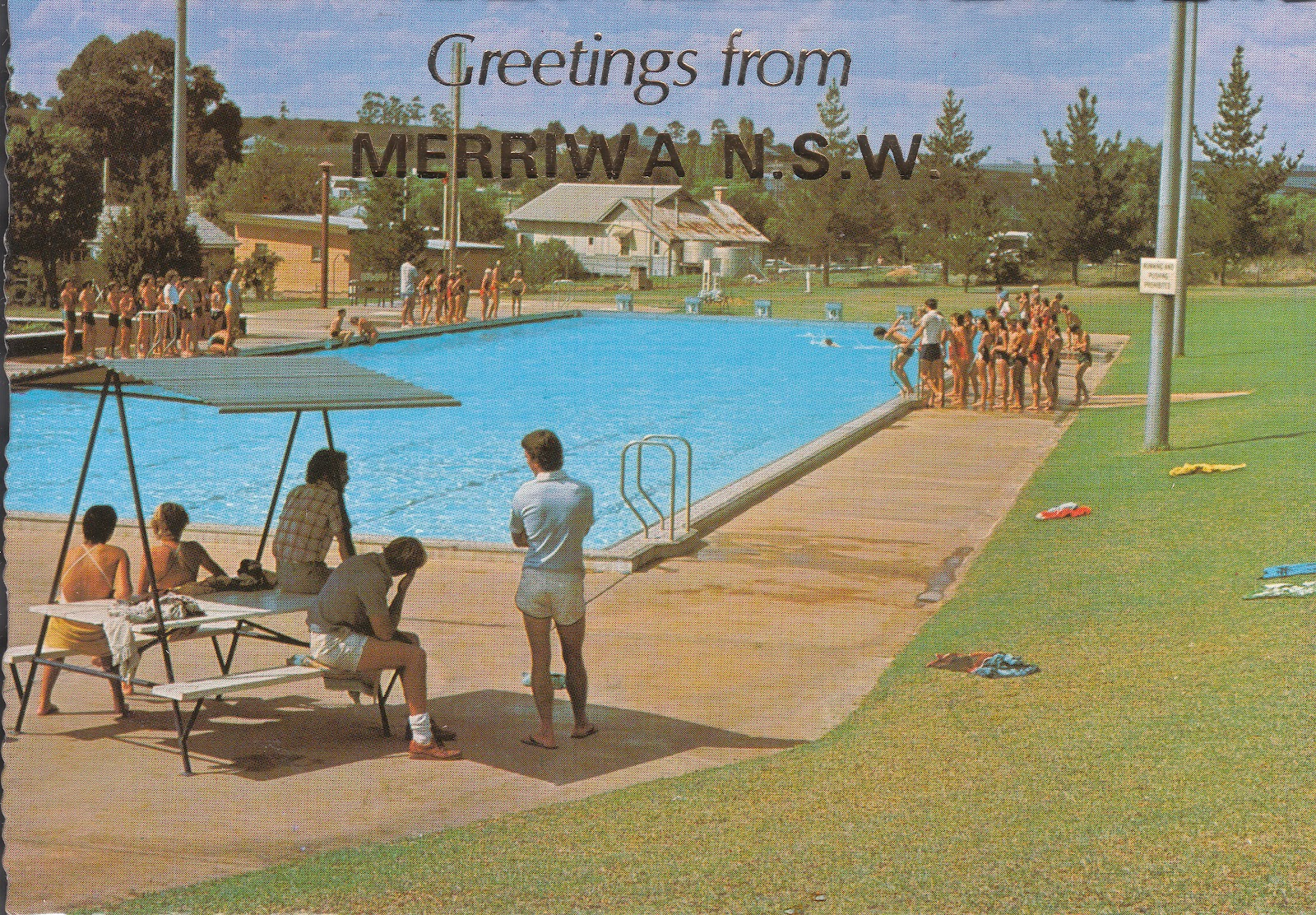 Swimming Pool Postcard Merriwa Nsw