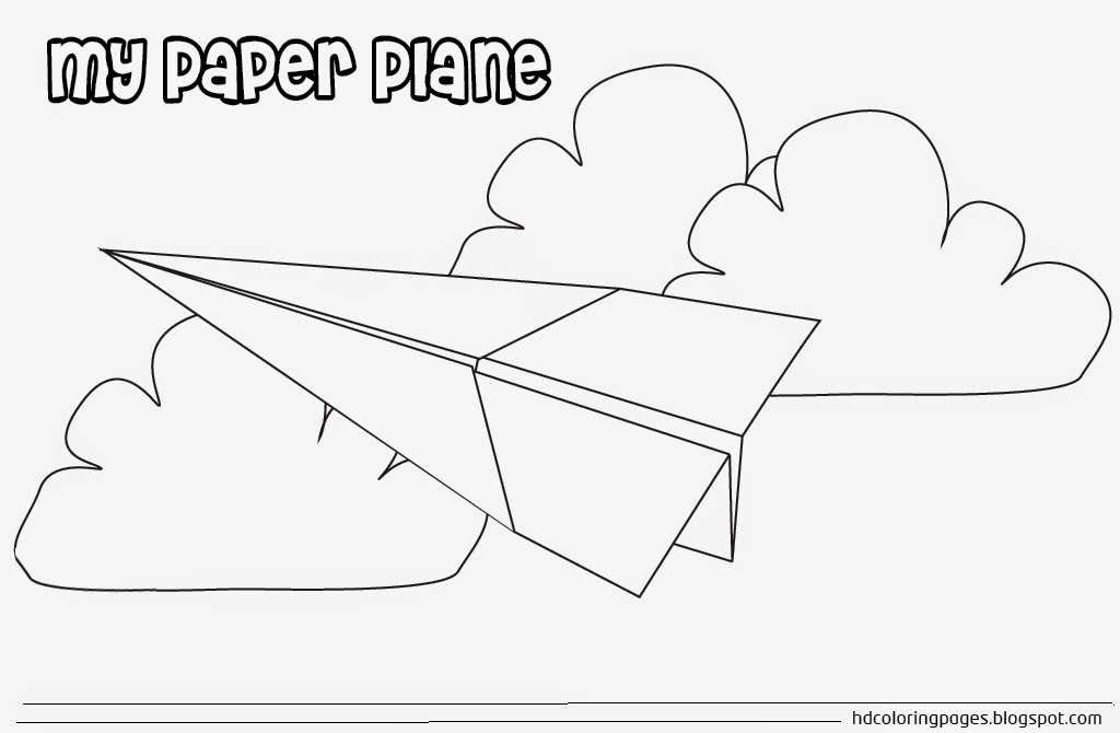 Paper Airplane Coloring Pages