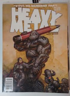 Oscar Chichoni illustraton censored and uncensored of Heavy Metal Magazine Software