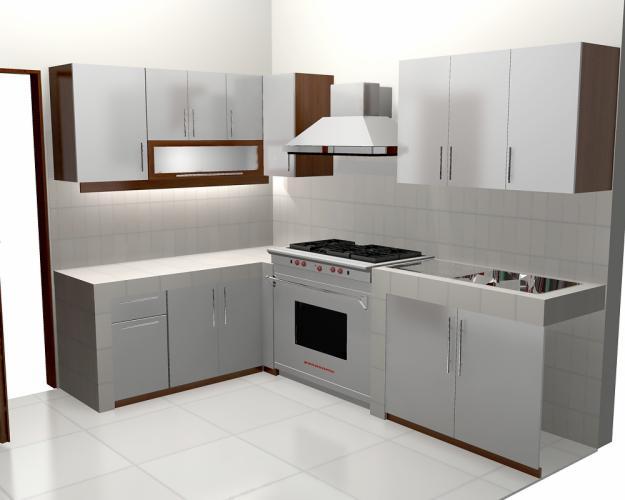 dapur modern dengan warna silver