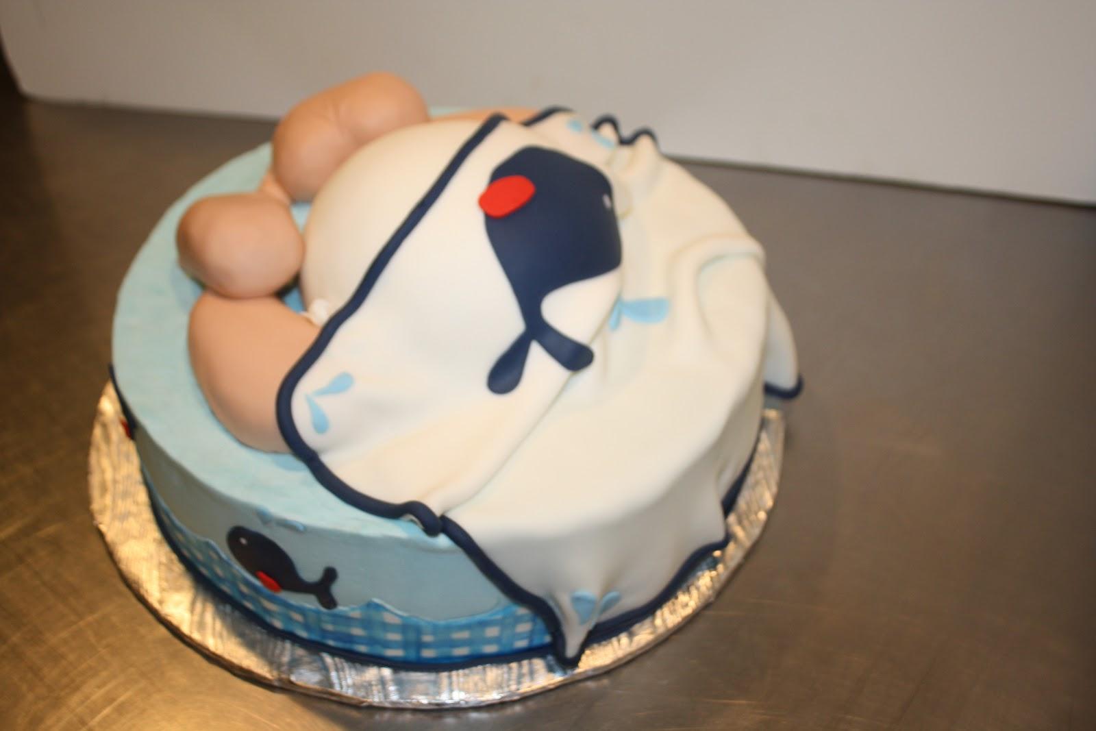 Whale Theme Baby Rump Cake
