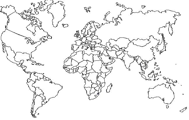 mapa mundi politico. tattoo hot Un mapa del mundo