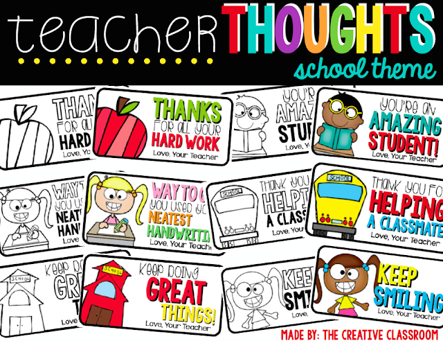Teacher Thoughts School Theme