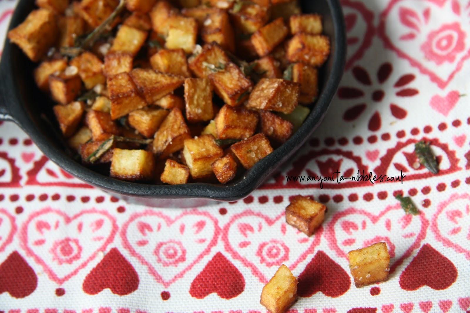 Diced pan fried breakfast #potatoes from www.anyonita-nibbles.co.uk #glutenfree #vegan