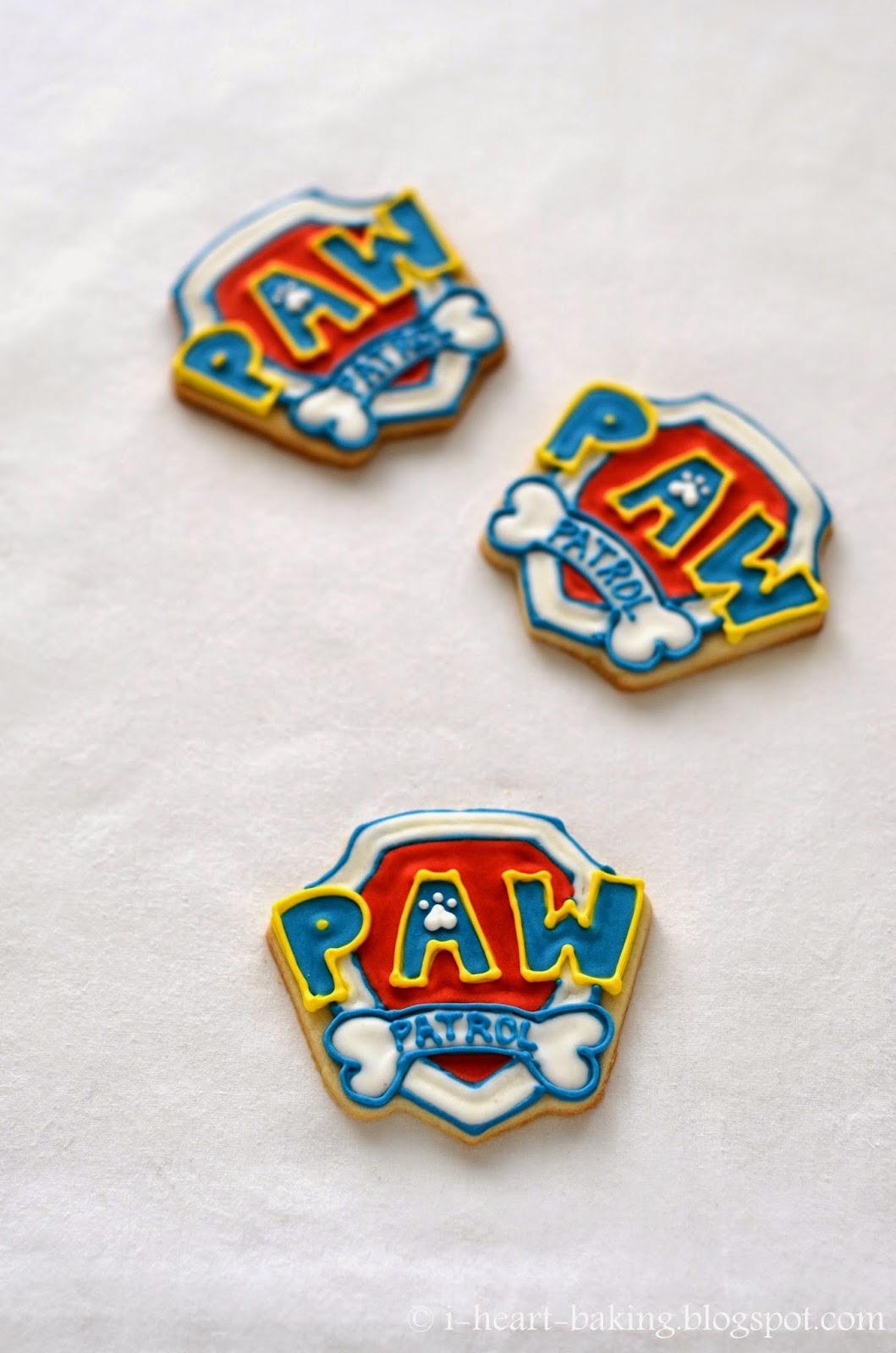 Paw Patrol Badge Cookies