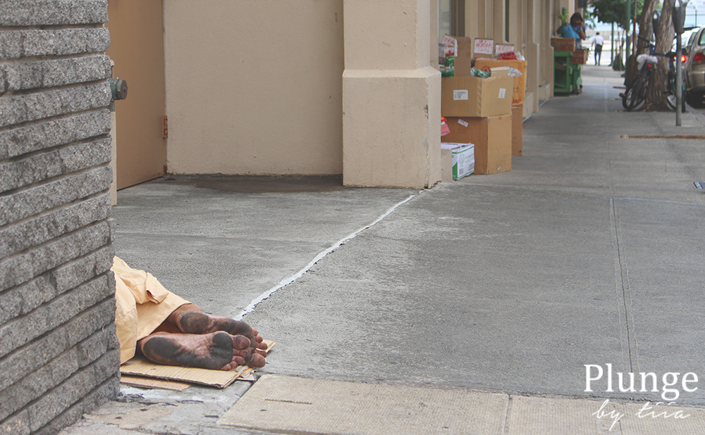 Homeless on the streets of Honolulu