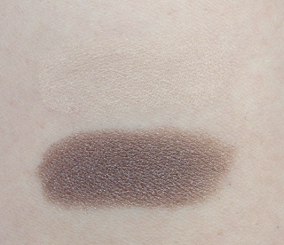 burberry sheer eyeshadow midnight brown trench swatches