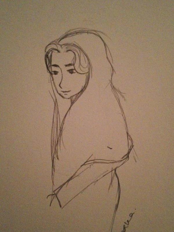 Gadis Kongsi Gambar Lakaran Hantu Pernah Dilihat Dengan Mata Kasar. MENYERAMKAN!