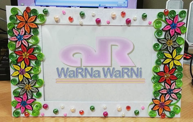 ... Handmade Frame size 5R | Colour Theme : Colourful | Frame Gambar