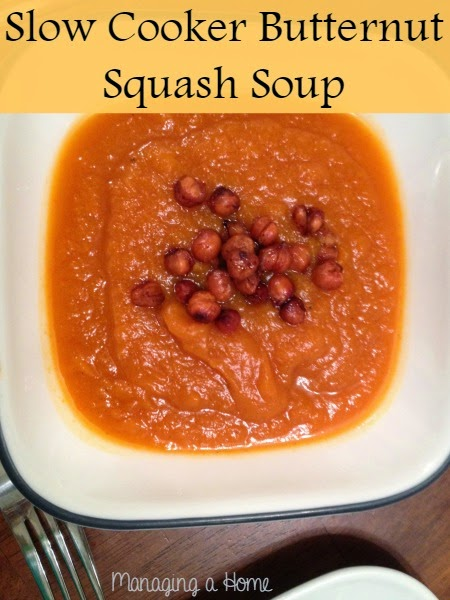 Slow Cooker Butternut Squash Soup | Managing a Home
