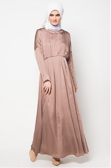 Model Gamis Remaja Untuk Lebaran Gambar Islami