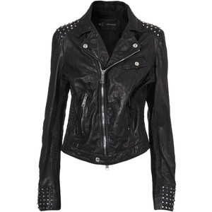 Womens perfect black leather jacket